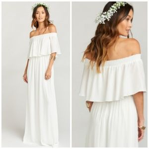 Show me your MuMu White Maxi Hacienda Dress